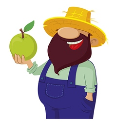 bearded farmer vector image vector image