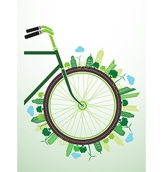 Bicycle green vector image vector image