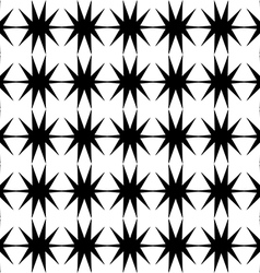 Black star pattern seamless on white background vector image