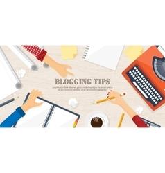 Flat typewriterLaptop Tell vector image