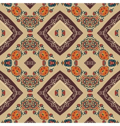 Floral seamless pattern in tribal style ethno vector