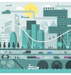 Future city vector