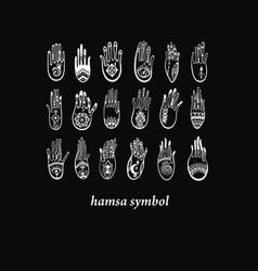 hamsa collection vector image vector image