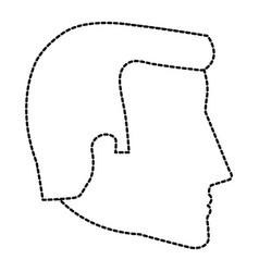 Head profile man avatar character vector