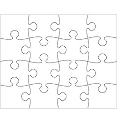 puzzle blank template easy to edit vector image