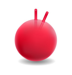 red ball for fitness vector image