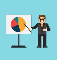 successful businessman making a presentation vector image vector image