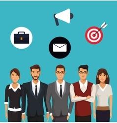 Teamwork business office organization vector