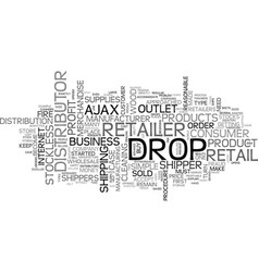 Who are wholesale drop shippers text word cloud vector