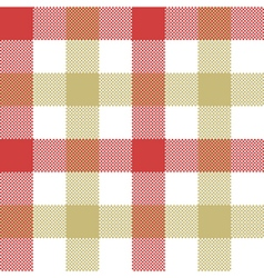 Red beige check plaid seamless pattern vector