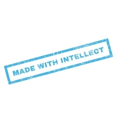 Made with intellect rubber stamp vector