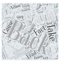 Back pain and backers word cloud concept vector