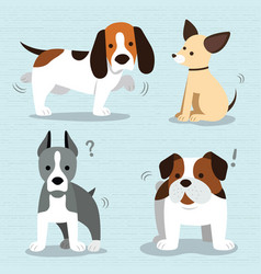 cute dogs breed vector image