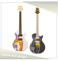 design guitar case fox vector image