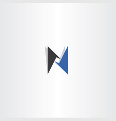 N logo letter blue black icon sign vector