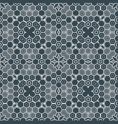 Abstract geometric monochrome futuristic pattern vector