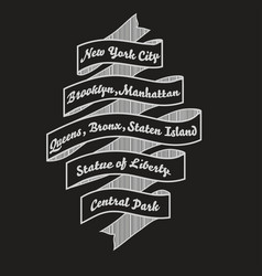 new york city t-shirt typography nyc fashi vector image