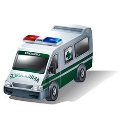 A transportation for sick and injured people vector
