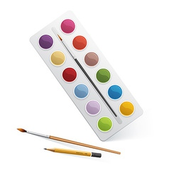 Palette for watercolor paint vector image