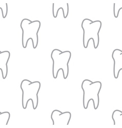 New tooth seamless pattern vector