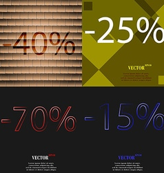 25 70 15 icon set of percent discount on abstract vector
