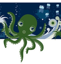 Cartoons octopus vector