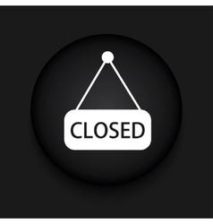 modern closed black circle icon vector image