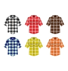Lumberjack check shirt lumberjack old fashion vector