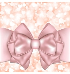 Holiday background with pink bow vector