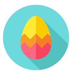 Easter egg with zigzag decor circle icon vector