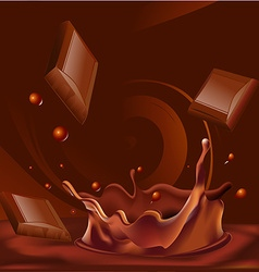 abstract chocolate splash background - vector image