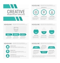 Business presentation template slides vector