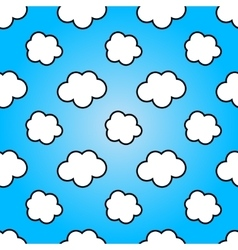 Clouds in blue sky nature sunny summer background vector