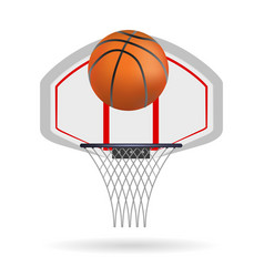 Basketball ring isolated on white background vector