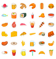 Beer icons set cartoon style vector