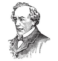 Benjamin disraeli vintage vector