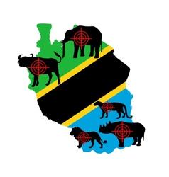 Big five tanzania cross lines vector