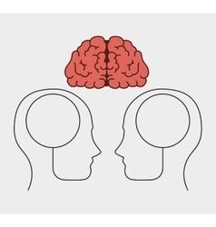 cartoon brain idea creative design isolated vector image vector image