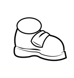 Cartoon sneaker sport shoes over white background vector