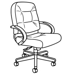 chair sofa isolated flat web mobile icon vector image vector image