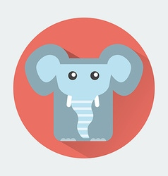 Elephant Baby Animal Icon vector image vector image