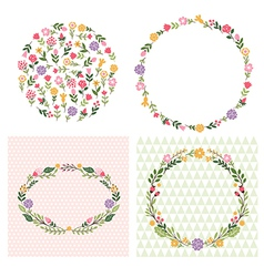 floral frames place for text vector image vector image
