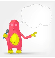 Funny Monster Singing vector image