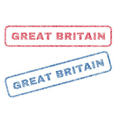 Great britain textile stamps vector