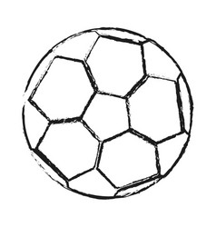 Monochrome blurred silhouette of soccer ball vector