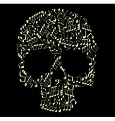 music skull vector image vector image