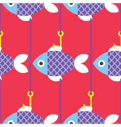Seamless-fish-and-fishing-pole-pattern- vector