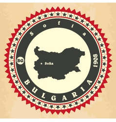Vintage label-sticker cards of bulgaria vector