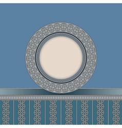 Vintage plate background vector image vector image