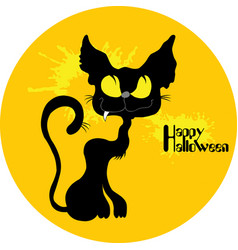 Wild cat halloween vector